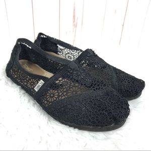 Toms Classic Flower Crochet Lace Flats Shoes